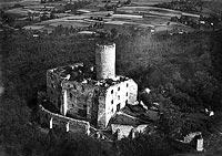 Zamek Lipowiec w Babicach - Zamek na fotografii lotniczej z 1927 roku