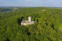 Zamek Lipowiec w Babicach - Widok z lotu ptaka, fot. ZeroJeden, V 2020