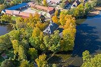 Zamek w Bagieńcu - Zdjęcie lotnicze, fot. ZeroJeden, X 2019