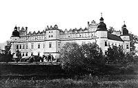 Zamek w Baranowie Sandomierskim - Zamek w Baranowie na zdjęciu Natana Kriegera z 1900 roku