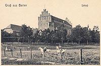 Zamek w Barcianach - Zamek na widokówce sprzed pożaru z 1915 roku