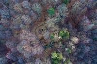 Zamek w Bardzie - Zdjęcie z lotu ptaka, fot. ZeroJeden, XII 2020