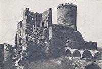 Zamek w Będzinie - Zamek w Będzinie na pocztówce z 1920 roku