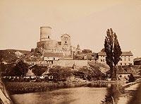 Będzin - Zamek w Będzinie na fotografii z 1889 roku