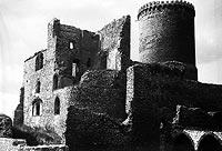 Zamek w Będzinie - Zamek w Będzinie na zdjęciu z 1933 roku