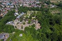 Zamek w Białej - Zdjęcie z lotu ptaka, fot. ZeroJeden, VI 2019