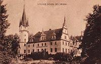 Biała Nyska - Zamek w Białej Nyskiej na zdjęciu z okresu międzywojennego