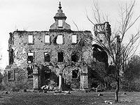 Zamek w Białej Nyskiej - Zamek w Białej Nyskiej w 1968 roku, przed rozbiórką