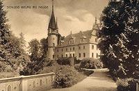 Zamek w Białej Nyskiej - Zamek na widokówce z około 1920 roku