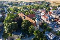 Zamek w Białej - Zdjęcie lotnicze, fot. ZeroJeden, VII 2019
