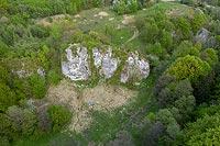 Zamek w Białym Kościele - Widok z lotu ptaka, fot. ZeroJeden, V 2020