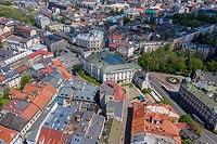 Zamek w Bielsku - Zdjęcie z lotu ptaka, fot. ZeroJeden, V 2020
