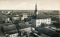 Zamek w Bierutowie - Zamek na pocztówce z 1910 roku