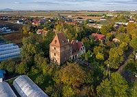 Wieża w Biestrzykowie - Zdjęcie lotnicze, fot. ZeroJeden, X 2019