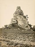 Zamek w Bobolicach - Zamek w Bobolicach na zdjęciu Henryka Poddębskiego sprzed 1939 roku