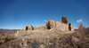 Zamek w Bobrownikach - Widok od południa na ruiny zamkowe, fot. ZeroJeden, III 2012