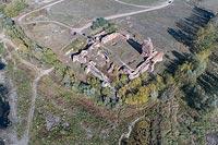 Zamek w Bobrownikach - Zdjęcie lotnicze, fot. ZeroJeden, X 2018
