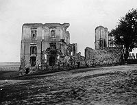 Zamek w Bodzentynie - Zamek w Bodzentynie na zdjęciu Berndta z lat 1918-33