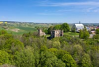 Zamek w Bodzentynie - Widok z lotu ptaka, fot. ZeroJeden, V 2020