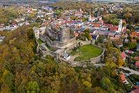 Zamek w Bolkowie - Widok z lotu ptaka od południowego-zachodu, fot. ZeroJeden, X 2013