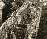 Zamek w Bolkowie - Zamek w Bolkowie na zdjęciu z początków XX wieku