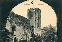 Zamek w Bolkowie - Zamek w Bolkowie na pocztówce z około 1900 roku