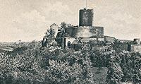 Zamek w Bolkowie - Bolków na pocztówce z lat 30. XX wieku