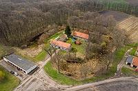Zamek w Borowie - Zdjęcie lotnicze, fot. ZeroJeden, IV 2021