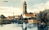 Zamek w Brodnicy - Zamek w Brodnicy na pocztówce sprzed 1913 roku