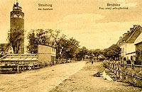 Zamek w Brodnicy - Brodnica na pocztówce z około 1920 roku
