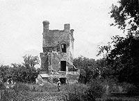 Zamek w Broku - Dwór w Broku na fotografii z 1936 roku