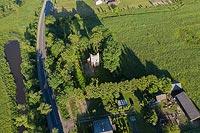 Zamek w Broku - Zdjęcie z lotu ptaka, fot. ZeroJeden, VI 2019
