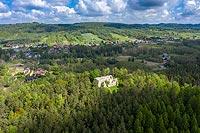 Zamek w Bydlinie - Widok z lotu ptaka, fot. ZeroJeden, V 2020