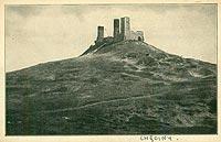 Zamek w Chęcinach - Zamek w Chęcinach na pocztówce z 1915 roku
