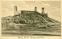 Chęciny - Zamek w Chęcinach na pocztówce z 1914-16 roku