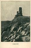 Zamek w Chęcinach - Zamek na pocztówce z 1915 roku