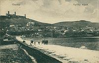 Zamek w Chęcinach - Chęciny na pocztówce z początku XX wieku