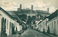 Zamek w Chęcinach - Chęciny na pocztówce z drugiego dziesięciolecia XX wieku