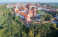 Zamek w Chełmnie - Zdjęcie lotnicze, fot. ZeroJeden, X 2018