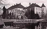 Zamek w Chobieni - Zamek na widokówce z 1933 roku