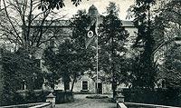 Zamek w Chocianowcu - Zamek w Chocianowcu na pocztówce z okresu międzywojennego