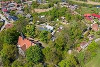 Zamek Chroberz - Widok z lotu ptaka, fot. ZeroJeden, V 2020
