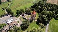 Zamek w Chudowie - Widok z lotu ptaka, fot. ZeroJeden, VII 2018