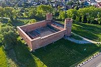 Zamek w Ciechanowie - Zdjęcie z lotu ptaka, fot. ZeroJeden, VI 2020