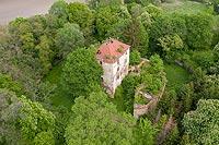 Zamek w Ciepłowodach - Zdjęcie z lotu ptaka, fot. ZeroJeden, V 2020