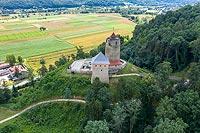 Zamek w Czchowie - Widok z lotu ptaka od południowego-zachodu, fot. ZeroJeden, X 2013