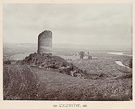 Zamek w Czchowie - Wieża w Czchowie na zdjęciu Józefa Zajączkowskiego z 1905 roku