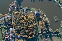 Fortalicja w Czemiernikach - Zdjęcie lotnicze, fot. ZeroJeden, X 2018