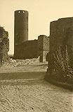 Zamek w Czersku - Zamek w Czersku na zdjęciu Zdzisława Marcinkowskiego z 1932 roku