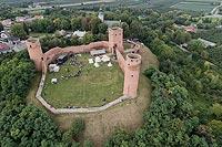 Zamek w Czersku - Zdjęcie z lotu ptaka, fot. ZeroJeden, VIII 2018